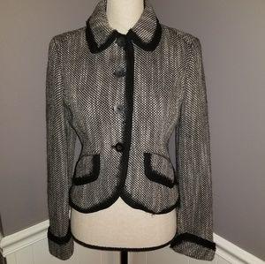 The Limited Black & White Tweed Jacket